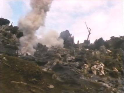 Estas débiles explosiones son el mejor ejemplo de lo que le queda por ofrecer al filme
