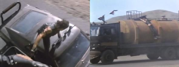 La captura del camión ofrece las mayores acrobacias de la película