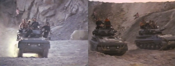 ¡Y tanques! ¿Habéis antes visto tanques en una postapocalíptica?